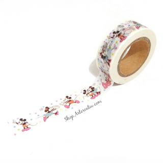 Washi tape Love Mikie y Minie